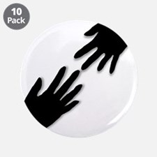 """Helping Hans Silhouette 3.5"""" Button (10 pack)"""