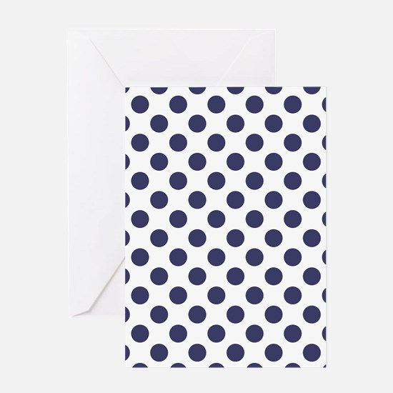 Blue Polka Dot Pattern Greeting Cards