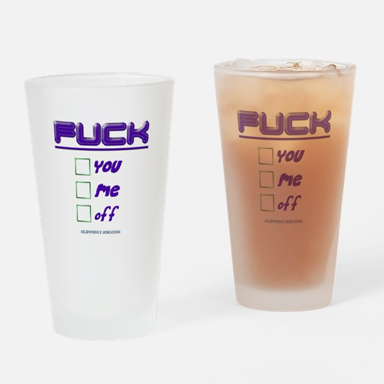 Slipperyjoe.com Drinking Glass