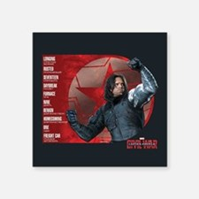 "Bucky Brainwash Code - Capt Square Sticker 3"" x 3"""