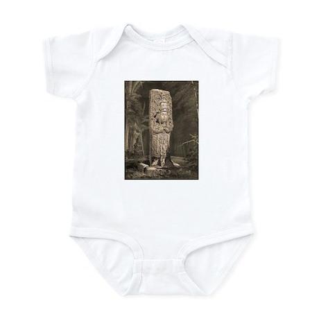 Copan Stele D Mayan Infant Bodysuit