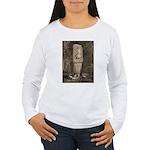 Copan Stele D Mayan Women's Long Sleeve T-Shirt