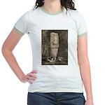 Copan Stele D Mayan Jr. Ringer T-Shirt