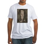 Copan Stele D Mayan Fitted T-Shirt