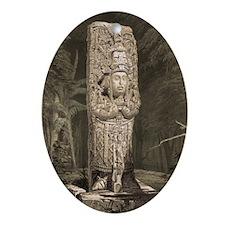 Copan Stele D Mayan Oval Ornament