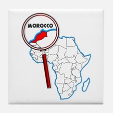 Morocco Under A Magnifying Glass Tile Coaster