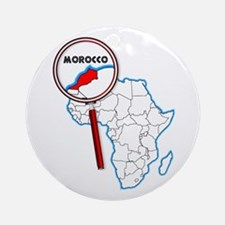 Morocco Under A Magnifying Glass Round Ornament