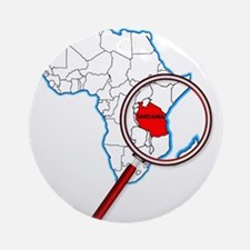 Tanzania Under A Magnifying Glass Round Ornament