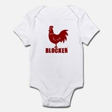 COCK BLOCKER SHIRT FUNNY HUMO Infant Bodysuit