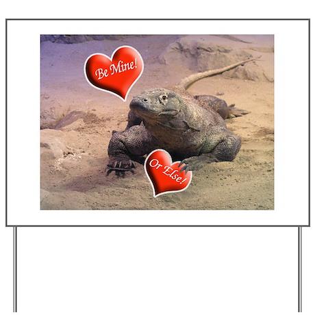 Helaine's Komodo Dragon Valen Yard Sign