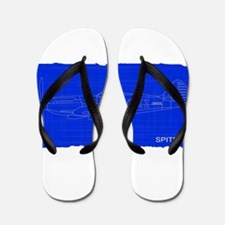 Fighter Plane Blueprint Flip Flops