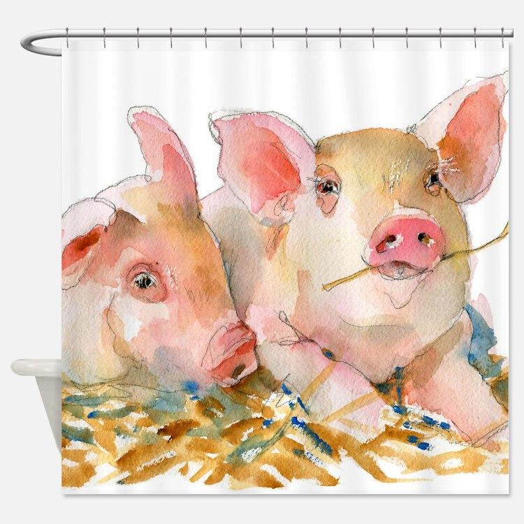 Pig Art   farm animals   watercolor   Pig Passion