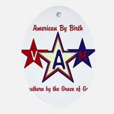 Patriotic Personalize Oval Ornament