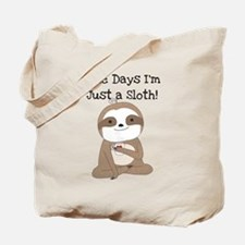 Cute Just a Sloth Tote Bag