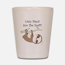 Animals Sloth Lazy Days Shot Glass
