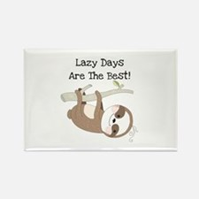Animals Sloth Lazy Days Rectangle Magnet