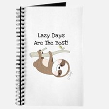 Animals Sloth Lazy Days Journal