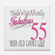 55th Birthday Gifts Tile Coaster
