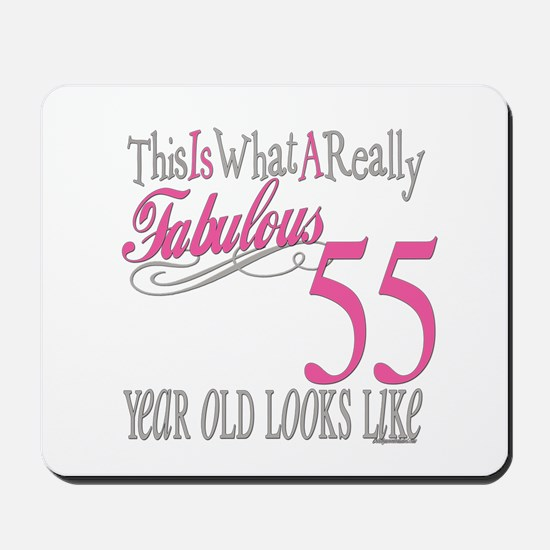 55th Birthday Gifts Mousepad