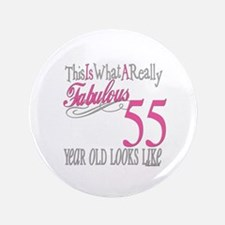 "55th Birthday Gifts 3.5"" Button"