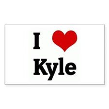 I Love Kyle Rectangle Decal