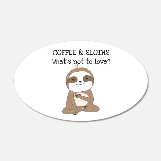 Coffee and Sloths Wall Decal