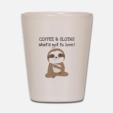 Coffee and Sloths Shot Glass
