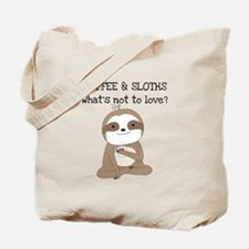 Coffee and Sloths Tote Bag