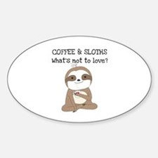Coffee and Sloths Decal