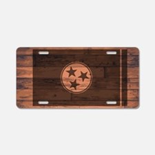 Cute Tennessee flag Aluminum License Plate