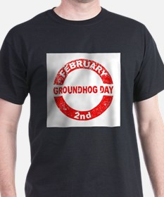Groundhog Day Stamp T-Shirt