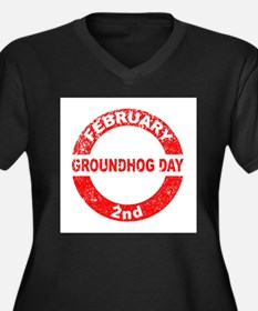 Groundhog Day Stamp Plus Size T-Shirt