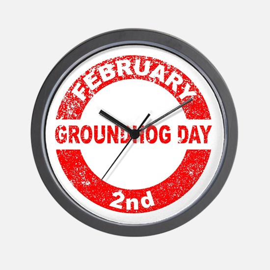 Groundhog Day Stamp Wall Clock