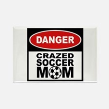 Crazed Soccer Mom Rectangle Magnet