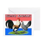 Dutch Bantams Greeting Cards (Pk of 20)