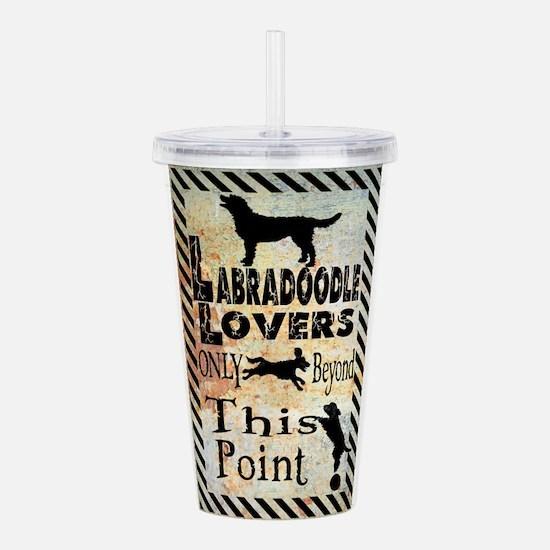 Labradoodle Lovers Acrylic Double-wall Tumbler