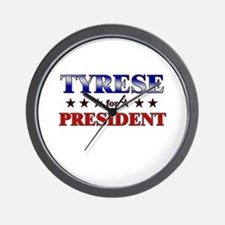 TYRESE for president Wall Clock