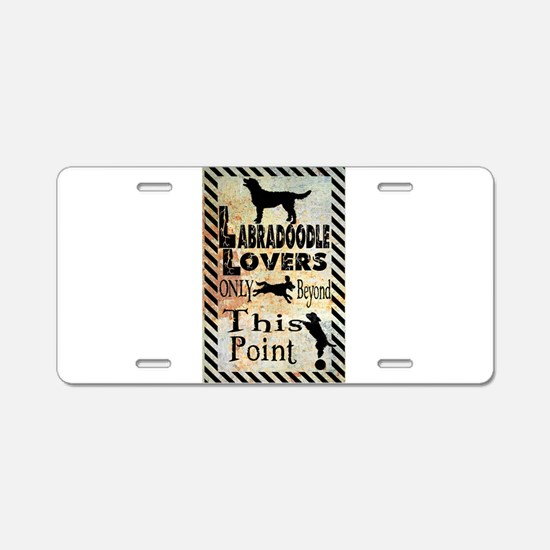 Labradoodle Lovers Aluminum License Plate