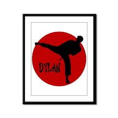 Dylan Karate Framed Panel Print