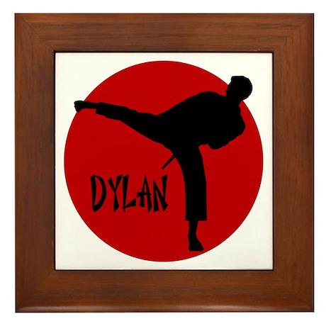 Dylan Karate Framed Tile