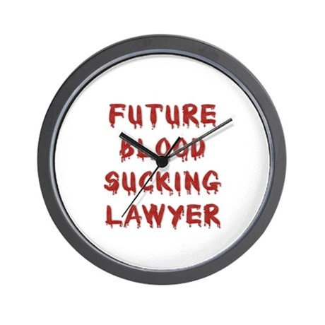 Future BS Lawyer Wall Clock