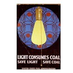 Light Consumes Coal - Postcards (Package of 8)
