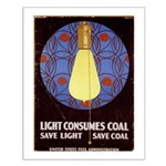 Light Consumes Coal -  Small Poster