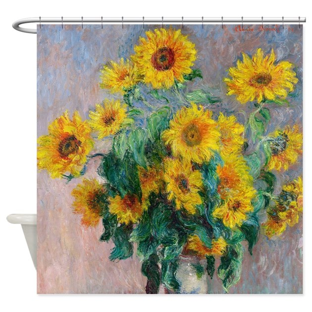Claude Monet Sunflowers Shower Curtain By Admin CP2452714