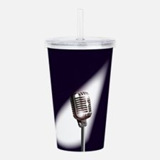 Retro Stage Microphone Acrylic Double-wall Tumbler