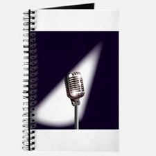 Retro Stage Microphone Journal