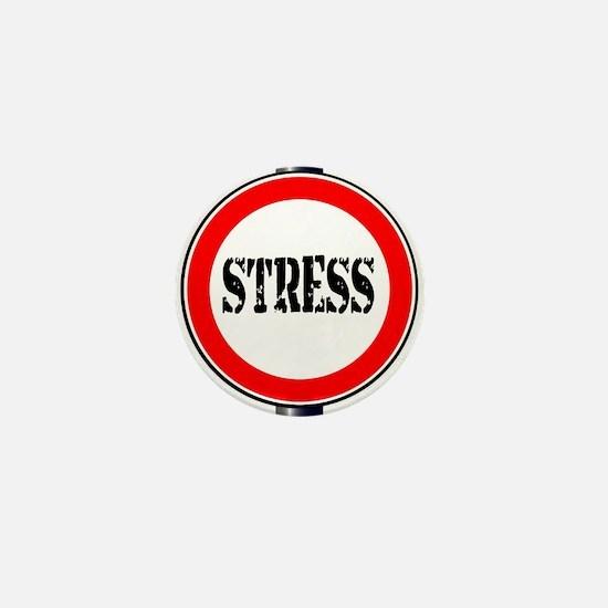 Stress Traffic Sign Mini Button