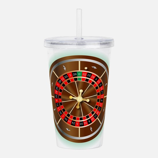 Roulette Wheel Acrylic Double-wall Tumbler