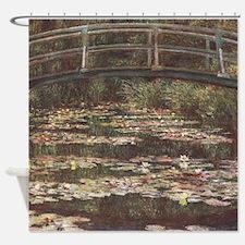 Claude Monet's The Japanese Footbri Shower Curtain
