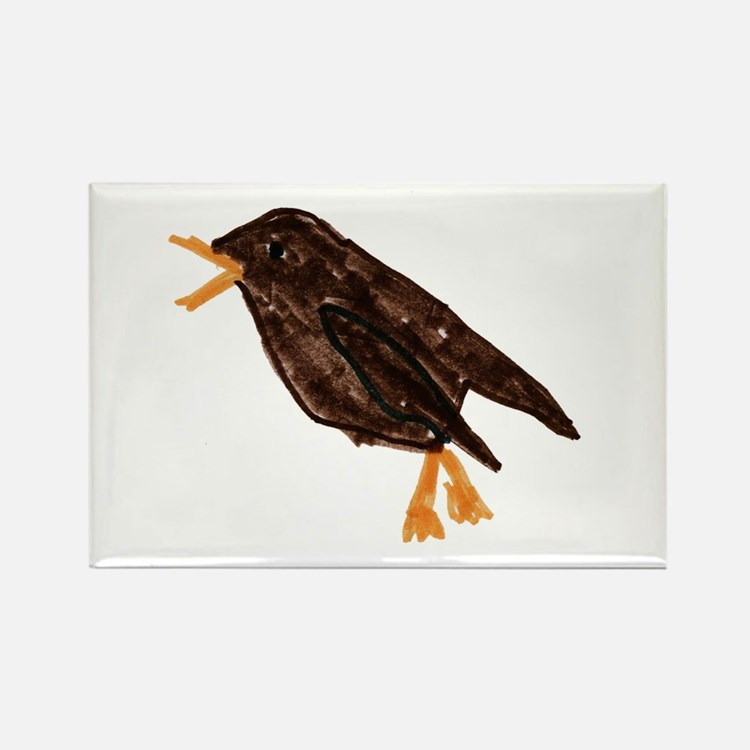 House Wren Rectangle Magnet